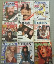 Circus Weekly (USA Entertainment, Music magazine) x 50 from 1971 to 1983