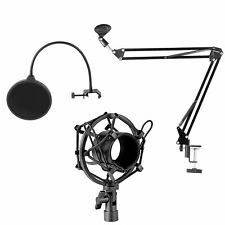 Neewer NB-35 Microphone Suspension Boom Scissor Arm Stand with Microphone Clip