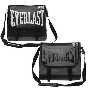 Everlast PVC Messenger Courier Laptop Shoulder Bag Satchel Black or Grey Tasche