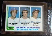 1982 TOPPS #681 STEVE SAX MIKE MARSHALL ROOKIE CARD RC LOS ANGELES DODGERS NMMT+