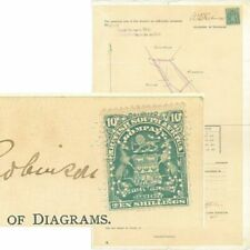 """RHODESIA - 1918 """"TITLE DEED"""" with 10/- Arms (ME975)*"""