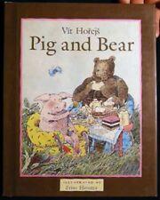 1989 VIT HOREJS PIG & BEAR 1st Ed WITH DUSTJACKET FRISO HENSTRA ILLUSTRATIONS