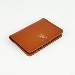 Tan Leather Card Holder Handmade Credit Card Wallet Leather Slim Shirt Wallet