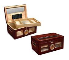 Prestige Import Group Valencia Cigar Humidor - Beveled Glass External Hygrometer