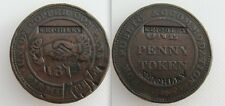 Collectable 1812 One Penny Token - Counter Marked KEIGHLEY - Birmingham