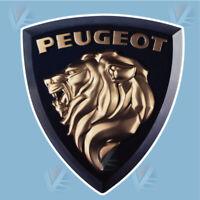 STICKER LOGO PEUGEOT LION AUTOCOLLANT INSIGNE MARQUE AUTO GARAGE 9 CM