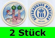 2 Stück Bierdeckel  Hofbräuhaus München - Ein Münchner im Himmel Nr. 29 Aloisius