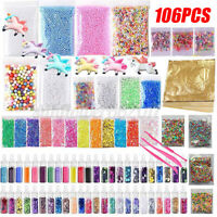 82/106PCS Slime Making DIY Kit Colorful Foam Ball Beads Sequins Gifts kids Toys