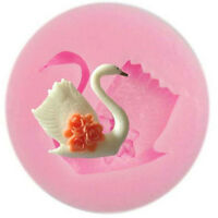 Hot Silicon 3D DIY Swan Fondant Cake Chocolate Sugar Craft Mold Cutter Tools