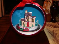 Large Musical Animated Christmas Orn. Santa Silhouette Projects flying Sleigh