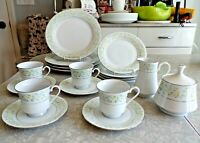 "CROWN MING FINE CHINA 19 PC. DINNERWARE SET in the ""SPRING GARDEN"" PATTERN"