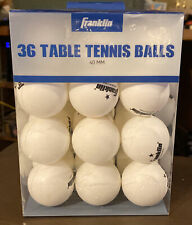 New listing Franklin Official Size 40mm Table Tennis Ping Pong Balls White 36-Count