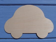 Wooden Bubble Car Plain Craft Shape Blank Door Plaque Sign 14cm x 20cm Pk x 3