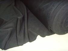 BLACK PANAMA BACK DROP BI STRETCH CURTAIN/ FANCY DRESS LINING CRAFT FABRIC.