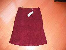 """Women wool blend winter skirt color burgundy waist 25"""""""" x 23"""" Length new"""