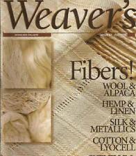 Weaver'S Magazine # 41: chenille, lyocell, linen ~ Fibers ~
