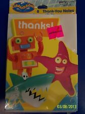 RARE Rubbadubbers PBS Nickelodeon Kid Birthday Party Thank You Notes w/Envelopes