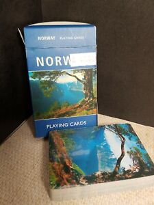 Norwich Deck of Playing Cards Vintage New Sealed Aune Gorgeous Scenery Souvenir