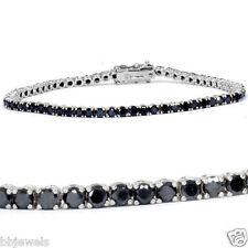 "8ct Irradiated Black Diamond Tennis Bracelet in 14K Gold Over Size-7"""