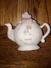 Precious Moments Birthday Month Mini Porcelain Teapot