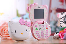 Hello Kitty Cat Cute Small Mini Mobile Cell Phone For Kids Girls Students