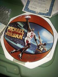 "1998 UPPER DECK MICHAEL JORDAN HIS AIRNESS PLATE ""5 TIME NBA MVP"" Bradford Exch"