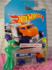 FAST GASSIN #144✰Orange/Gray/Blue;5sp;UNION 76✰✰2017 i Hot Wheels case G
