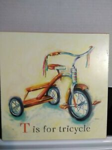 T is for Tricycle Red Wall Art Catherine Richards Boy/Girls Nursery Kid Room