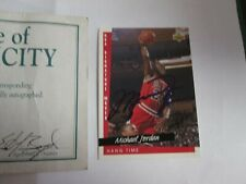 Michael Jordan Autographed NBA card Field of Dreams COA