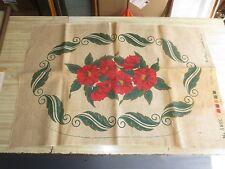 """Sanitized Supreme Floral Design Burlap Cloth #380C for Hooked Rug - 24"""" x 36"""""""