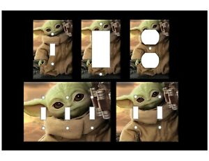BABY YODA - GROGU - Light Switch Covers Mandalorian Star Wars Home Decor Outlet