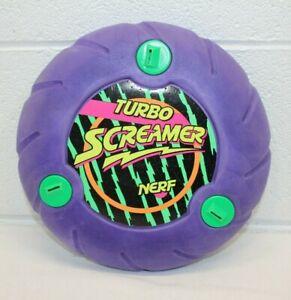 Vintage 1991 NERF Purple TURBO SCREAMER Flying Disk Rare Foam 90's Frisbee