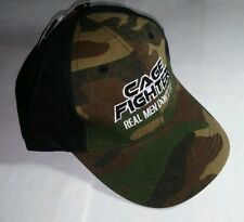 CAGE FIGHTER CAMOUFLAGE BLK REAL MEN DON'T TAP MMA ADJ SNAP BASEBALL CAP HAT NEW