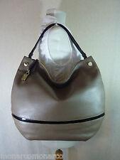 NWT Furla Taupe Brown/Black Pebbled Leather Montmartre Hobo/Shoulder Bag $499