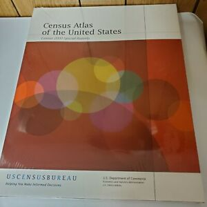 CENSUS ATLAS OF UNITED STATES By Trudy A. Suchan & Marc J. Perry - Hardcover
