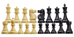 Fisher-Spassky WM Staunton 3.75'' Schachfiguren Set Holz 4x Dame Handmade Indien