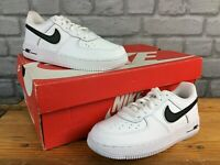 NIKE CHILDRENS UK 13 EU 31.5 AIR FORCE 1 LO WHITE LEATHER TRAINERS BOYS GIRLS AD