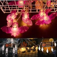 Halloween LED fée guirlande lumineuse citrouille chauve-souris fantôme effray SH
