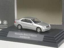 CLASSE: Busch Mercedes Benz Classe C Avantgarde ARGENTO METALLIZZATO IN SCATOLA ORIGINALE