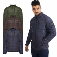 Mens Puffer Jacket Padded Quilted Bubble Zip Up Warm Outdoor Winter Work  Coat