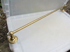 "Vintage Brass Towel Rail Holder Rack Wall Rail Old French Retro Reclaim 29""L"