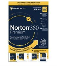 Norton 360 Premium 2020 10-Devices+75GB Of Secure PC Cloud Storage PC/MAC/Mobile