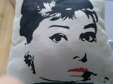 Audrey Hepburn Canvas Cushion