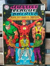 Justice League of America #57 VG united nations cover un green arrow flash lot
