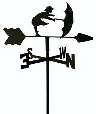 Umbrella Girl Garden Style Weathervane Wrought Iron Look Made In Usa Tls1038In