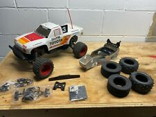 Vintage Tamiya Toyota Hilux Monster Racerwith Rare Sassy Chassis