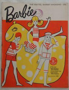 VINTAGE Mattel Barbie Magazine July-August 1965