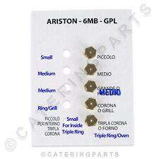 Set 5 Ariston LPG Propan Gasbrenner Injektor Jet Set M6 X 0.75 HG10