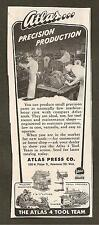 VINTAGE AD FROM 1945 SATURDAY EVENING POST - MISTOL COLD DROPS & ATLAS TOOLS