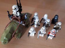 STAR Wars Mini Figure 10 x Storm Trooper Figure con dewback!!! si adatta LEGO!!!